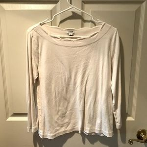 J.Crew Scallop Boat Neck Fitted Long Sleeve